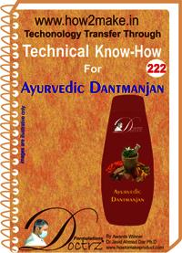 Ayurvedic Dantmanjan Technical Know-How Report
