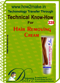 Hair Removing Cream Technical Know-How Report