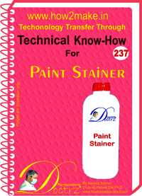 Paint Stainer Technical Know-How Report