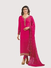 Rahi Fashion Prachi Desai PINK COLOR Royal Crape Embroidered Straight Suit