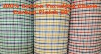 Shirting Yarn Dyed Check Carbon Finish Fabric 58''