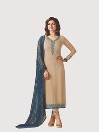 Rahi Fashion Prachi Desai BEIGE COLOR Royal Crape Embroidered Straight SuiT