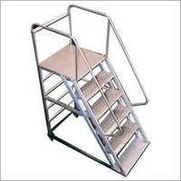 Mobile Statue Broad Step Aluminium Ladder