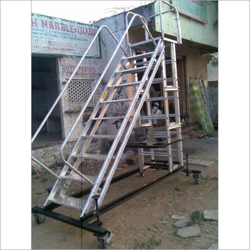 Futuristic Mobile Platform Aluminium Ladder