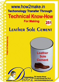 Leather Sole Cement Technical Know-How Report