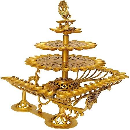 Exotic India Hand Held Diyas - Brass