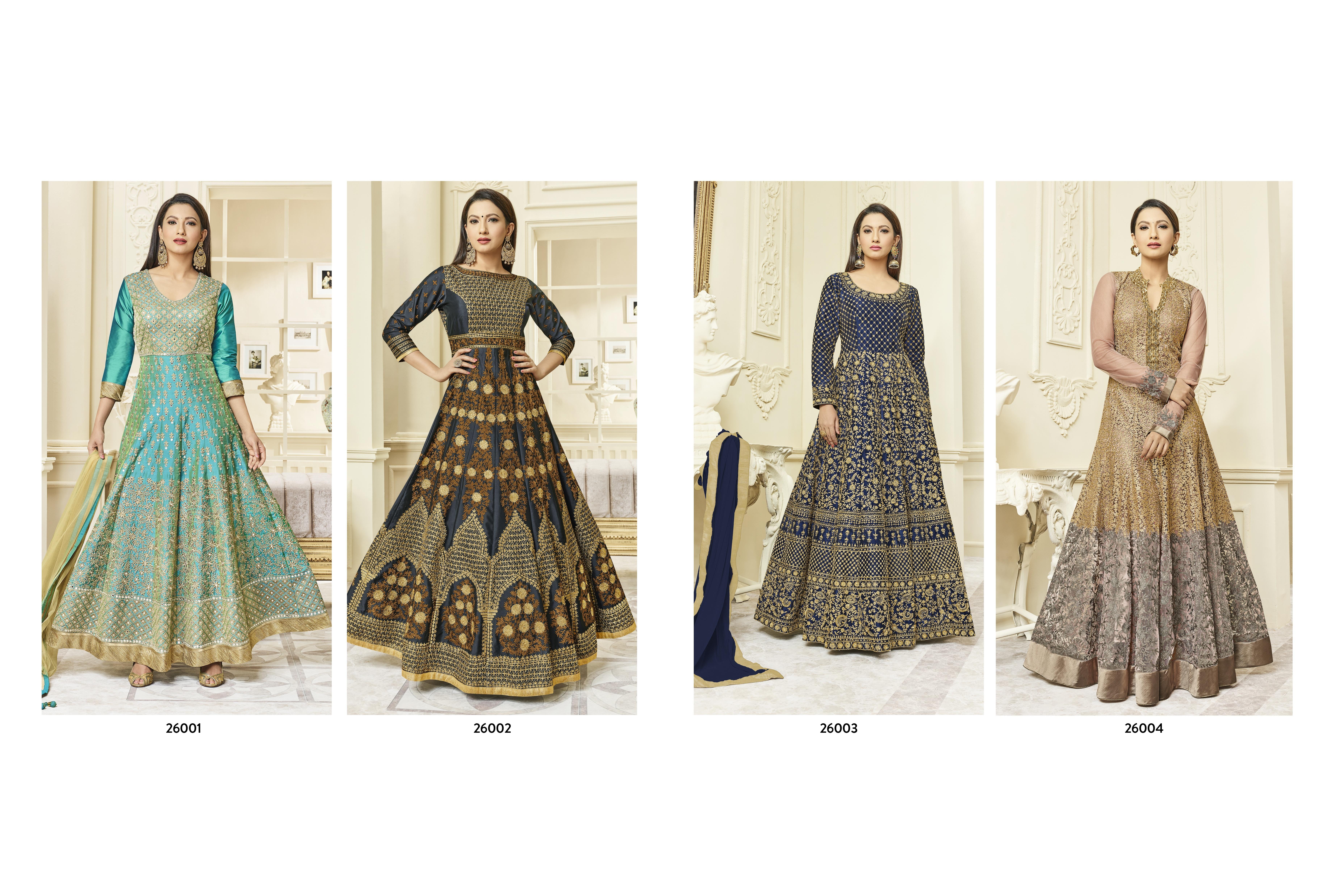 Arihant Hayat Anarkali Catalog  Raw Silk Heavy