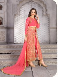 Designer Long Embroidery Work Salwar Suits