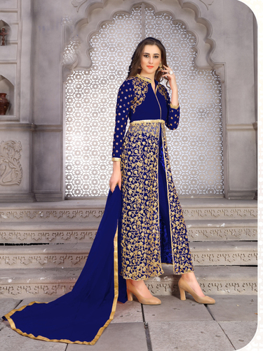 Designer Long Embroidery Work Salwar Suits Designer Long Embroidery Work Salwar Suits