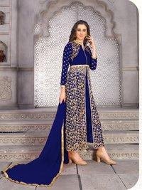 Designer Long Embroidery Work Salwar Suits Designer Long Embroidery Work Salwar Suits