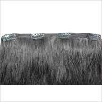 Remy Weft Clip On Extension Black Color Human Hair