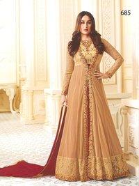 Kareena Kapoor Beige N Maroon Anarkali Suit