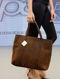 Large Leather Tote Carry Bag
