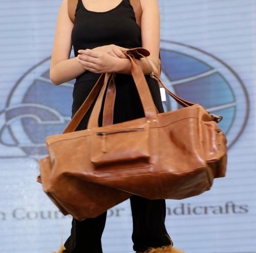 Leather Luggage Travel Bag