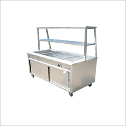 Bain Marie With Over Head Shelf