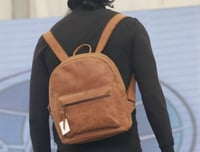 Mens Leather Travel Backpack
