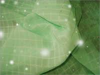 Silver Fillet Jacquard Plaid Chiffon Fabrics