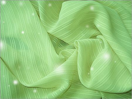 Silver Satin Stripe Jacquard Plaid Chiffon Fabric