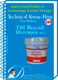 Oil Bound Distemper White Technical Know How Report