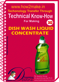 Dish Wash Liquid Concentrate Technical Know how Report