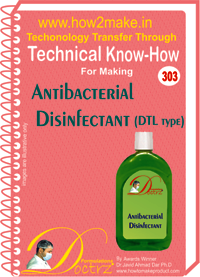 Antiseptic Disinfectant Fluid DTL type Technical Know-How eReport