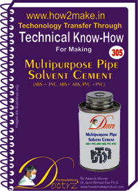 Multipurpose Pipe Solvent Cement Know-how Report