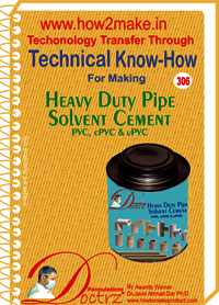 Heavy Duty Pipe Solvent Cement for PVC, cPVC & uPVC (TNHR)