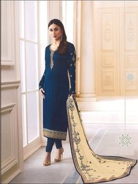 Kareena Kapoor Blue Georgette Straight Suit