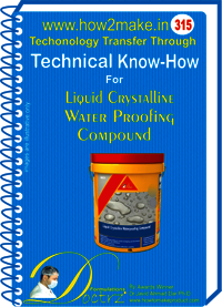 Crystalline Water Proofing Compound (315 tnhr) Technical knowhow