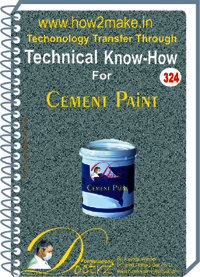 Cement Paint (324 tnhr) Technical knowhow