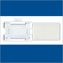 Horizontal Plastic ID Card Holder