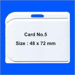 2 Side Sticky ID Card Holder