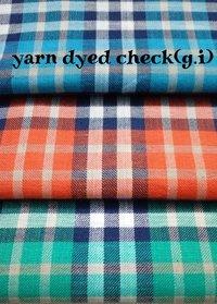 Yarn Dyed Check fabric  (G.I) 58''