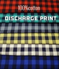 Shirting Discharge Printed Fabric 58''