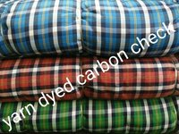Yarn Dyed Carbon Check Fabric 58''