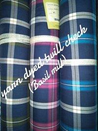 Shirting Yarn Dyed Twill Check Fabric  (Basil Mill) 58''