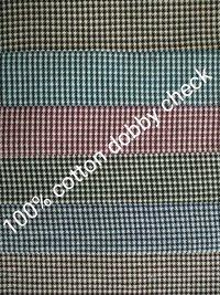 shirting Cotton Dobby Check Fabric 58''