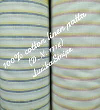 Shirting Linen Patta Fabric  (Lucika Stripe) 58''
