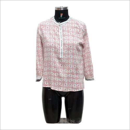 Ladies Customized Mandarin Collar Shirt
