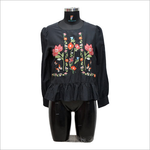 Ladies Customized Embroidered Top