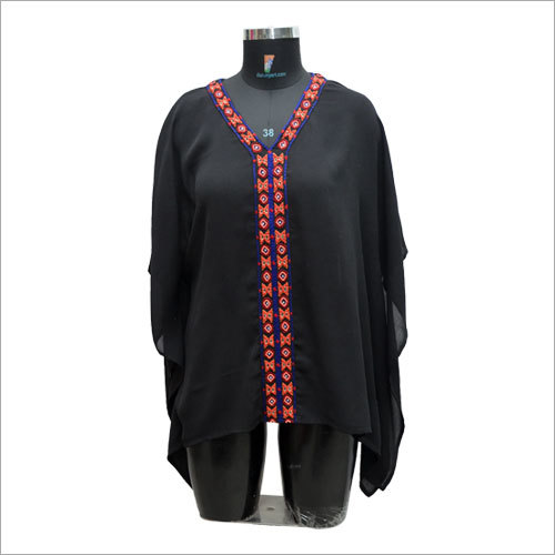 Ladies Customized V-Neck Rayon Top