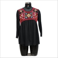 Ladies Customized Round Neck Embroidered Top