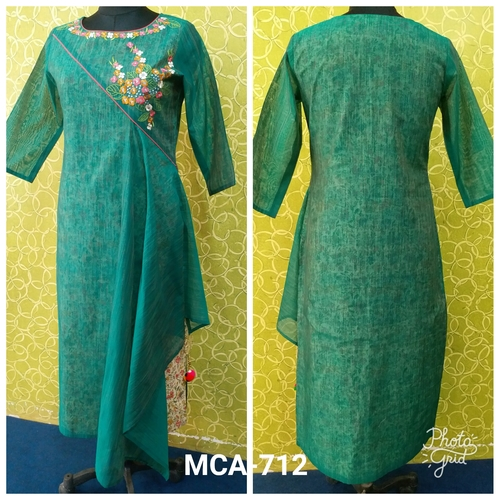 Cotton Green Kurti