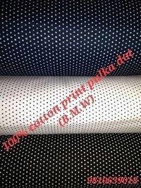 Shirting  Print Pulka Dot Fabric (BMW) 58''