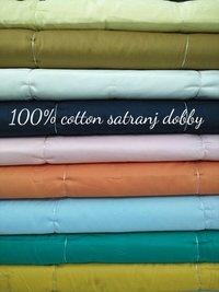 Shirting Cotton Satranj Dobby Fabric 58''