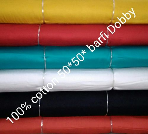 Shirting Cotton  Burfi Dobby Fabric 58''