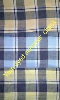 Shirting  Yarn Dyed Summer Check Fabric 58''