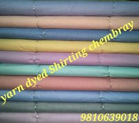 Shirting Yarn Dyed  Chembray Fabric 58''
