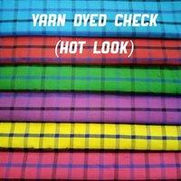 Shirting  Yarn Dyed Check  Fabric (Hot-Look) 58''