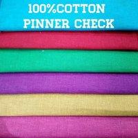 Shirting Cotton Pinner  Check Fabric  58''